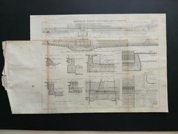 ANNALES PONTS Et CHAUSSEES - (Dep 92) Plan Du Barrage De Suresnes Sur La Seine - Graveur Macquet - 1889 (CLB55) - Travaux Publics
