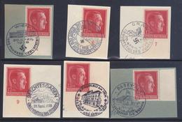 Terzo Reich 1938 49° Compleanno 6 Annulli Speciali Su Frammento - Duitsland