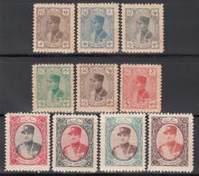 1933 - 34 Yvert Nº 551, 552, 553, 554, 558, 559, 560, 561, 563, 565, /**/ - Iran