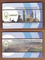 AC - BUS, TRAM SINGLE RIDE CARD FOR PUBLIC TRANSPORTATION SUNGURLU, TURKEY - Transportation Tickets