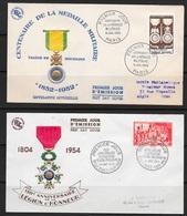 T 00453 - France 1952-54, 2 FDC, Médailles Côte 60.00 € - FDC