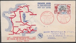 T 00454 - France 1953, FDC Tour De France - 1950-1959