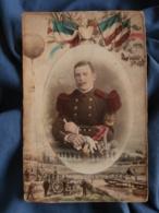 Photo Format Cabinet  Dubut à Angers  Portrait Colorisé  Militaire 6e Génie  Double Insigne Pontonnier  CA 1900 - L439 - Foto's