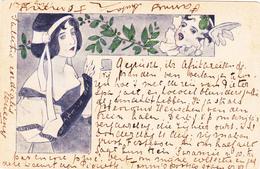 769/ Getekende Kaart, S.H, Dame, 1898 - Voor 1900
