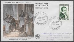 T 00457 - France 1952, FDC Laënnec - FDC