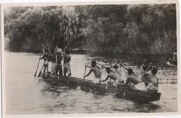 A Native Canoe On The Zambezi River Above The Victoria Falls - Zimbabwe