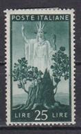 Repubblica Italiana, 1945  - 25 Lire Democratica, Fil. R1 - Pos. SA - Nr.20/I MLH* - 6. 1946-.. Repubblica