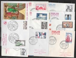 T 00468 - France 1954, 10 FDC Différentes , Côte 123.00 € - FDC