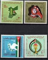 JORDAN/1973/MNH/SC#719-722/50TH. ANNIV OF KINGDON OF JORDAN - Jordanie