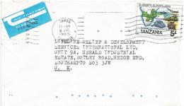 Tanzania 1985 Tanga Train Truck Telephone Telecommunication SADCC Cover - Tanzania (1964-...)