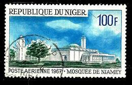 NIGER Aer67° 100f Bleu, Gris Et Vert-foncé Mosquée De Niamey (10% De La Cote + 0,15) - Niger (1960-...)