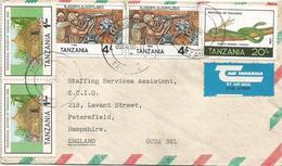 Tanzania 1990 Moshi Diamons Mining Hut Green Mamba Snake Reptile Cover - Tanzania (1964-...)