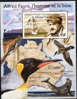 TAAF ,  FRENCH ANTARCTIC, 2018, MNH, ALFRED FAURE, SEALS, BIRDS, PENGUINS, MAPS, S/SHEET - Uccelli