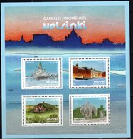 FRANCE, 2019, MNH, EUROPEAN CAPITALS, HELSINKI, HARBOURS, SHIPS, CATHEDRALS, SHEETLET - Geography