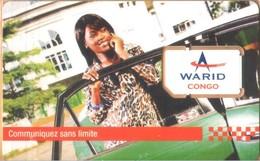 Congo (Brazzaville) - CG-WAR-GSM-0001B, Warid - GSM / SIM, Communiquez Sans Limite, Communicate Without Limit, Mint - Congo