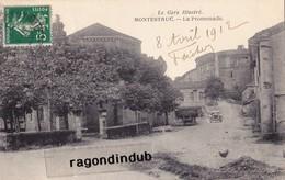 """CPA - 32 - MONTRESTUC - """"Le Gers Illustré"""" - La Promenade - Centre Du Village, Voiture De Tourisme - Bel état 1910 - - France"""