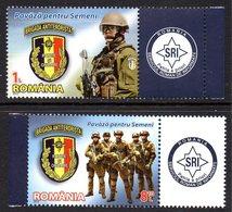 Roumanie Romania 5646/47 Police, Brigade Anti-terroriste - Police - Gendarmerie