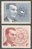Frédéric Joliot-Curie Nobel Prize Physicist Chemist LABEL CINDERELLA VIGNETTE 10th Anniv. Peace Movement 1959 Hungary - Prix Nobel