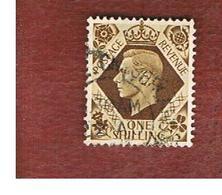 GRAN BRETAGNA (UNITED KINGDOM) -  SG 475   - 1939 KING GEORGE VI 1 SH    - USED° - Usati