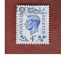 GRAN BRETAGNA (UNITED KINGDOM) -  SG 508   - 1950  KING GEORGE VI 4 BLUE  - USED° - Usati