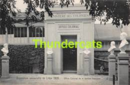 CPA CARTE OFFICIELLE DE L'EXPOSITION UNIVERSELLE LIEGE 1905 NELS NO 205 OFFICE COLONIAL DE LA SECTION FRANCAISE - Expositions