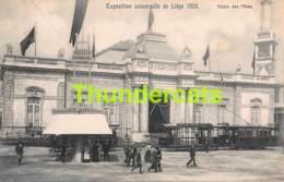 CPA CARTE OFFICIELLE DE L'EXPOSITION UNIVERSELLE LIEGE 1905 NELS NO 169 PALAIS DES FETES TRAM - Expositions