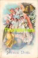 CPA LITHO ANGE JOYEUX NOEL CHRISTMAS LITHO CARD ANGEL - Anges