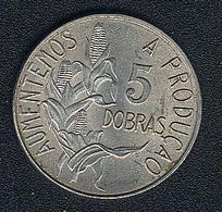 Sao Tome E Principe, 5 Dobras 1977, AUNC - São Tomé Und Príncipe