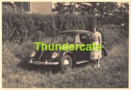 CPA CARTE DE PHOTO FOTOKAART VOLKSWAGEN VW BEETLE KEVER AUTO CAR AUTOMOBILE VOITURE - Cartes Postales