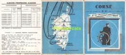 DEPLIANT BROHURE DEPARTS CORSE AVRIL 1957 OCTOBRE 1957 COMPAGNIE TRANSATLANTIQUE - Europe