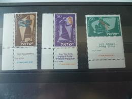TIMBRE ISRAEL N° 113/115   NEUF **  MNH - Israel