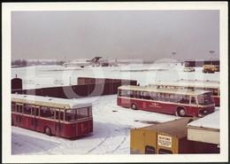 60s AMATEUR PHOTO FOTO DUSSELDORF BUS AIRPORT LUFTHANSA GERMANY - Automobiles