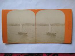 """MARSEILLE - Photographie Stéréoscopique Albumen ( Fin XIX ème) - """" Rentrée Au Port """" - Bâteau -  - TBE - Fotos Estereoscópicas"""