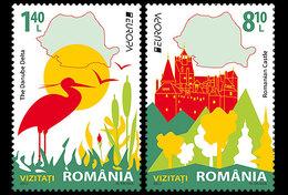 Roumanie Romania 5595/96 Europa écologie Oiseau, Danube - Europa-CEPT
