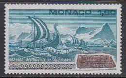 Monaco 1982 Decouverte De Groenland / Viking Ship 1v ** Mnh (42342) - Ongebruikt