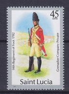 St. Lucia 1985 Mi. ???    45c. Militäruniform Jahreszahl 1987  MNH** (NOT In Catalogue) !! - St.Lucia (1979-...)