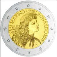 San Marino 2019 - 2 Euro – Leonardo Da Vinci - San Marino