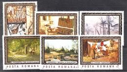 ROUMANIE 1987 Mi.nr: 4332-4337 Gemälde  Oblitérés - Used - Gebruikt - 1948-.... Républiques