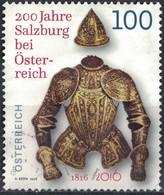 Autriche 2016 Oblitéré Used Armure Défensive Salzbourg Rejoint L'Autriche SU - 2011-... Usati