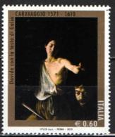 ITALIA - 2010 - DAVIDE CON LA TESTA DI GOLIA - QUADRO DI CARAVAGGIO - MNH - 1946-.. République