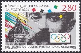 FRANCE, 1994, P De Coubertin, CIO (Yvert 2889 ) - France