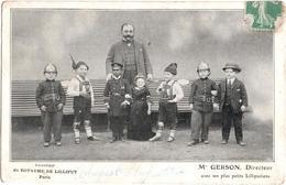 Souvenir Du Royaume De Lilliput Paris - Mr Gerson, Directeur Avec Ses Plus Petits Lilliputiens - Artisti