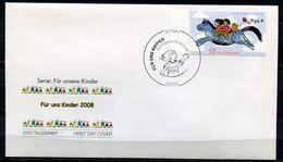 "Germany 2008 First Day Cover Mi.Nr.2693 Ersttagsbrief ""Für Uns Kinder,Fliegendes Blaues Pferd,Horses""1 FDC - Poupées"