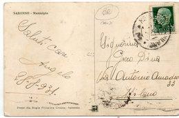 PERFIN - FRANCOBOLLI FORATI Su Cartolina - VIAGGIATA - Italy