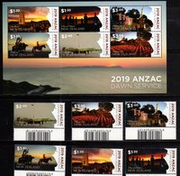 NEW ZEALAND, 2019, MNH, ANZAC, MILITARY, DAWN SERVICE, HORSES, FLAGS, ANTARCTIC, SCOTT BASE, 6v+SHEETLET, HIGH FV - Militaria