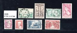 1935  Année Complète - Timbres Oblitérés - France