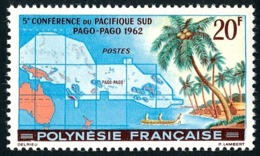 POLYNESIE 1962 - Yv. 17 ** TB  Cote= 22,70 EUR - 5ème Conf. Pacifique-Sud  ..Réf.POL23760 - French Polynesia