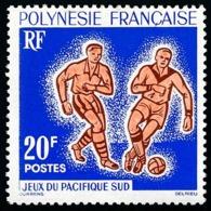 POLYNESIE 1963 - Yv. 22 **   Cote= 11,00 EUR - Jeux Pacifique-Sud : Football  ..Réf.POL23765 - Nuovi