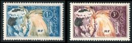 POLYNESIE 1964 - Yv. 27 Et 28 **    - Danseuse Tahitienne (2 Val.)  ..Réf.POL23775 - French Polynesia