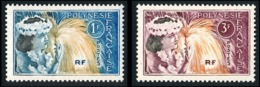 POLYNESIE 1964 - Yv. 27 Et 28 **    - Danseuse Tahitienne (2 Val.)  ..Réf.POL23776 - Polynésie Française